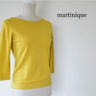 martinique Le Conte - martinique クルーネック 七分袖 カットソー Tシャツ からし色