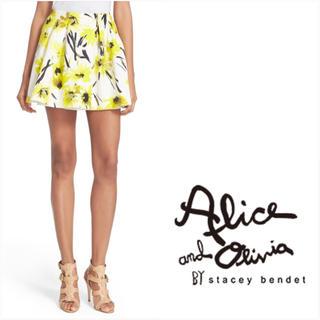 アリスアンドオリビア(Alice+Olivia)の❤️alice+olivia美品フラワーミニスカート❤️(ミニスカート)