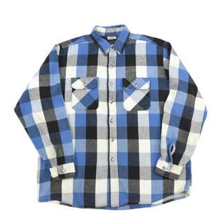 80s 90s XL five brother ネルシャツ ブルー 美色(シャツ)