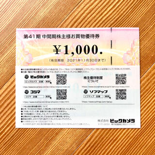 ビックカメラ 株主優待券 95枚 9.5万円分  (ショッピング)