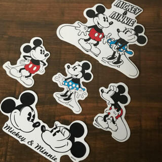 ミッキーマウス(ミッキーマウス)のミッキー&ミニーレトロステッカー(シール)