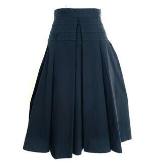 プラダ(PRADA)のPRADA ブラック フレア スカート size38(ひざ丈スカート)