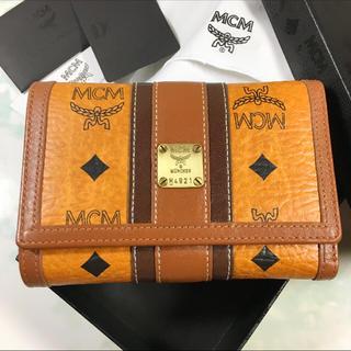 エムシーエム(MCM)の未使用☺︎MCM エムシーエム 財布 キャメル 折りたたみ 茶 ブラウン(財布)