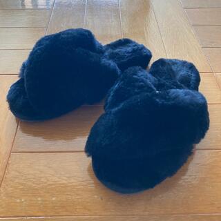 エミュー(EMU)のEMU エミュー ファーサンダル 23cm 黒(サンダル)