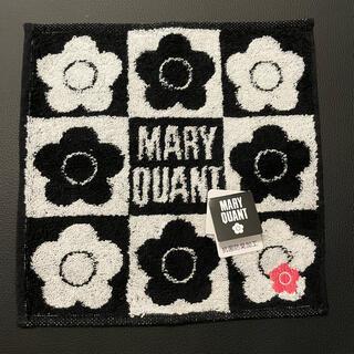 マリークワント(MARY QUANT)の新品 MARY QUANT  タオルハンカチ 花柄 黒 未使用(その他)