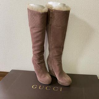 グッチ(Gucci)のグッチ ロングブーツ スエード 35.5(ブーツ)