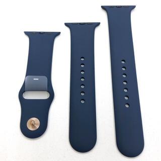 アップルウォッチ(Apple Watch)のKbtittadokoro様専用 アップルウォッチ ラバーベルト 紺(ラバーベルト)