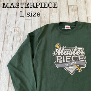 マスターピース(master-piece)の廃盤品 MASTERPIECE ヘクティク ロンT ロングスリーブ 緑 古着(Tシャツ/カットソー(七分/長袖))