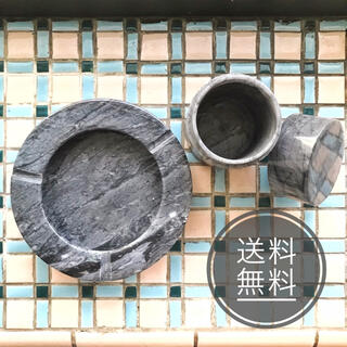 【送料無料❗️レトロ 応接セット❗️】 大理石 ケース 小物入れ 灰皿