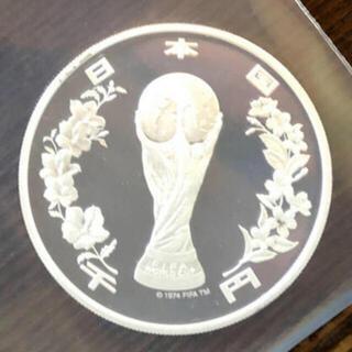 2002年FIFAワールドカップ記念千円ブルーフ硬貨(貨幣)