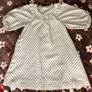 ショコラフィネローブ(chocol raffine robe)の♡robe Aライン❤︎バルーン袖❤︎裾レースワンピース(ひざ丈ワンピース)