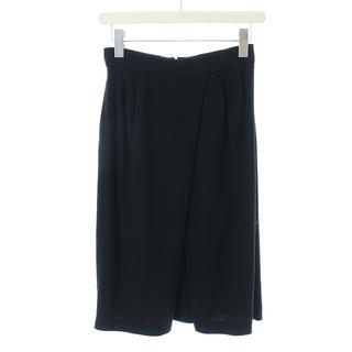 プラダ(PRADA)のプラダ PRADA スカート ひざ丈 フレア 38 M 黒 ブラック /NM(ひざ丈スカート)