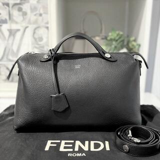 フェンディ(FENDI)の美品★ フェンディ バイザウェイ ラージ 2way 黒 レザー(ハンドバッグ)
