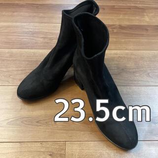 ユニクロ(UNIQLO)のUNIQLO ストレッチショートブーツ ブラック 23.5(ブーツ)