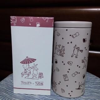 タリーズコーヒー(TULLY'S COFFEE)の出品は10/13迄 タリーズ Tully's ビーンズキャニスター 鳥獣戯画(日用品/生活雑貨)