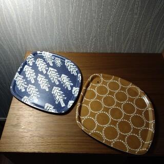 ミナペルホネン(mina perhonen)の【希少品】ミナペルホネンのトレイ 2枚セット(テーブル用品)