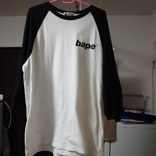 アベイシングエイプ(A BATHING APE)のA BATHING APE 七分袖 XL(Tシャツ/カットソー(七分/長袖))