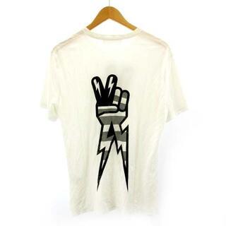 ニールバレット(NEIL BARRETT)のニールバレット Tシャツ カットソー 白 ホワイト XS(Tシャツ/カットソー(半袖/袖なし))