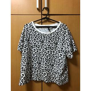H&M ヒョウ柄 レオパード Tシャツ 半袖 レディース Lサイズ