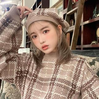 エイミーイストワール(eimy istoire)のダーリッチ♡ チェックニットベレー(ハンチング/ベレー帽)