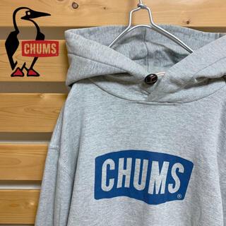 チャムス(CHUMS)のCHUMS プルオーバー パーカー グレー ビッグシルエット 古着 アウトドア(パーカー)