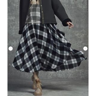 ダブルスタンダードクロージング(DOUBLE STANDARD CLOTHING)のダブルスタンダードクロージング スカート チェック柄マキシスカート(ロングスカート)