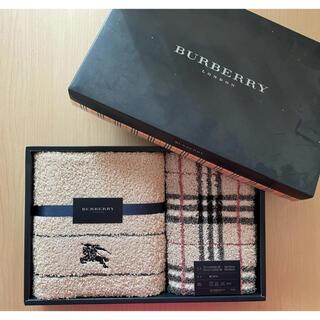 BURBERRY - 【未開封】バーバリーBURBERRYフェイスタオル・ウォッシュタオル各1枚