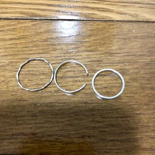 ケービーエフ(KBF)の新品‼️ シルバー三連リング セット まとめ売り ピンキーリングあり(リング(指輪))