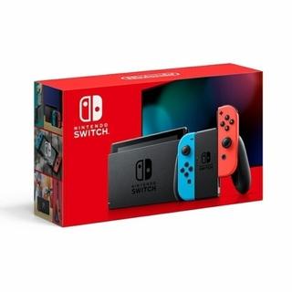 ニンテンドースイッチ(Nintendo Switch)の【新品未使用】ニンテンドースイッチ本体ネオン3台グレー2台(家庭用ゲーム機本体)