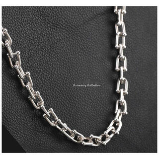 ティファニー(Tiffany & Co.)のUチェーンネックレス シルバー 銀色 チェーン 芸能人愛用ハードウェア(ネックレス)