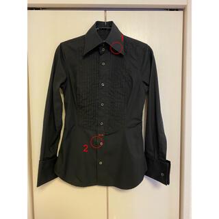 ディースクエアード(DSQUARED2)のDSQUARED2(ディースクエアード)ブラックシャツ 38(シャツ/ブラウス(長袖/七分))