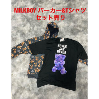 ミルクボーイ(MILKBOY)のMILKBOY NEVER BEAR 総柄パーカー&Tシャツセット(パーカー)