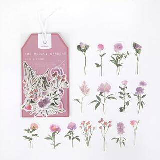 【No.4】海外 シール フラワー 花 ピンク おしゃれ コラージュ 素材 (印刷物)