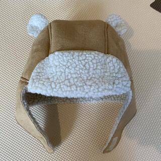 ベビーギャップ(babyGAP)のbabygap くま耳 フライトキャップ ボア 80(帽子)