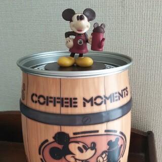ミッキーマウス(ミッキーマウス)のミッキー  缶 樽 コーヒー デイズニー(小物入れ)