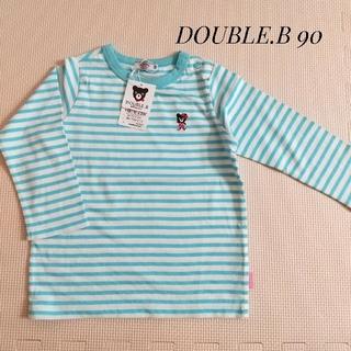 ミキハウス(mikihouse)の新品  ミキハウス ロンT 長袖 90 ビー子 ボーダー(Tシャツ/カットソー)