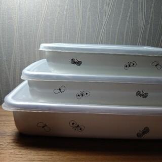 ミナペルホネン(mina perhonen)のminaperhonen 野田琺瑯 浅型3点セット(容器)