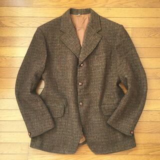 ハリスツイード(Harris Tweed)のJ956★ハリスツイード メンズ ジャケット ブレザー ブラウン大きいサイズXL(テーラードジャケット)