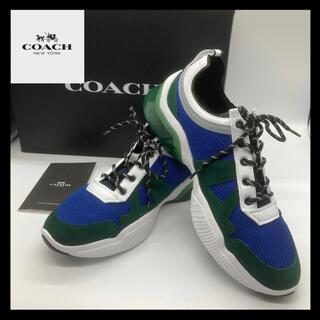 コーチ(COACH)の【送料無料】コーチcoach スニーカー 青緑 C1734(スニーカー)