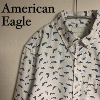 アメリカンイーグル(American Eagle)のAmerican Eagle アメリカンイーグル 総柄 イルカ BDシャツ(シャツ)
