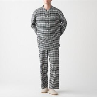 ムジルシリョウヒン(MUJI (無印良品))の脇に縫い目のない フランネルスタンドカラーパジャマ メンズ(その他)