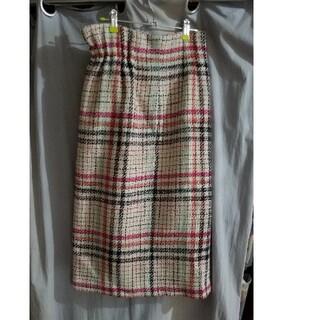 ミラオーウェン(Mila Owen)のミラオーウェン ツイードタイトスカート(ひざ丈スカート)
