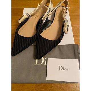 クリスチャンディオール(Christian Dior)のdior フラットシューズ バレエシューズ リボン 23(バレエシューズ)