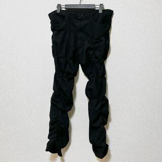 BLACK COMME des GARCONS - BLACK COMME des GARCONS 縮絨シャーリングパンツ M