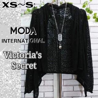 ヴィクトリアズシークレット(Victoria's Secret)のXS~S:新品 カーディガン/Victoria's Secret★ブラック(カーディガン)
