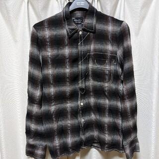 ナンバーナイン(NUMBER (N)INE)のナンバーナイン 08AW レーヨン比翼チェックシャツ(シャツ)