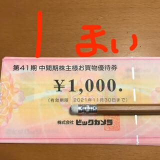 ビックカメラ 株主優待券 1枚 2021年11月末まで(ショッピング)