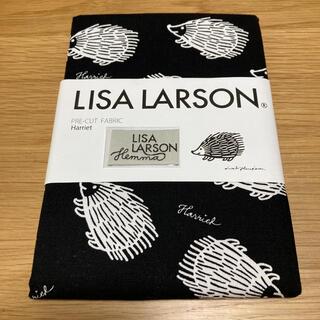 リサラーソン(Lisa Larson)のリサラーソン ハリエット柄 黒 オックス 生地 ハギレ 50cm(生地/糸)