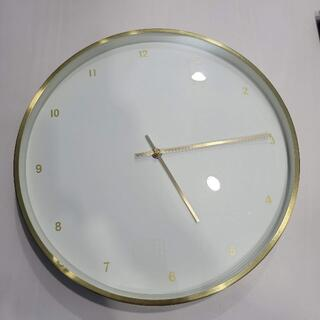 ローラアシュレイ(LAURA ASHLEY)のローラアシュレイ 壁掛け時計 ゴールド 直径35cm(掛時計/柱時計)
