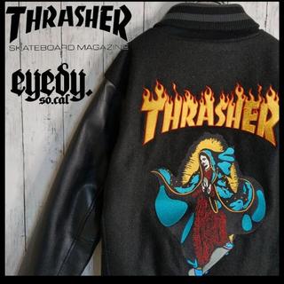 THRASHER - 【限定コラボ】スラッシャー×eyedy 刺繍ビッグマリア コラボスタジャン 美品